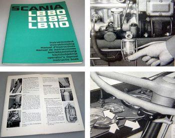 Scania LB LBS LBT 80 85 110 LKW Betriebsanleitung 1972