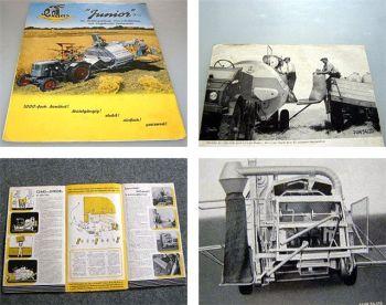 Claas Junior 5 1/2 Kleinmähdrescher Prospekt ca. 1950