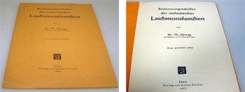 Bestimmungstabellen der. Laubmoosfamilien 1953
