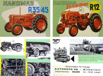 Hanomag R12 R35 R45 Traktoren technische Daten