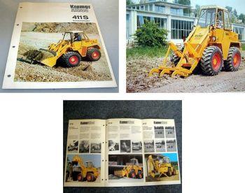 Kramer Allrad 411S Schaufellader Prospekt ca 1975 mit 6 Seiten