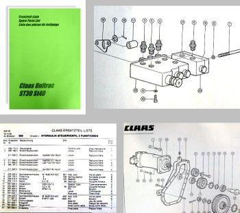 Claas Unitrac ST30 ST40 Ersatzteilliste Spare Parts