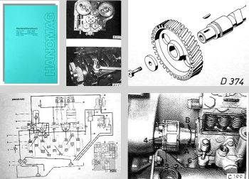 Hanomag D943 D944 D963 D964 Motoren Werkstatthandbuch
