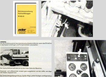 Eder M825 B Hydraulikbagger Betriebsanleitung