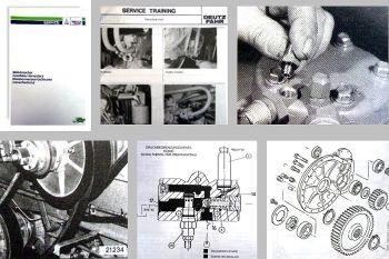 Deutz M34.80 bis M36.40H Mähdrescher Werkstatthandbuch