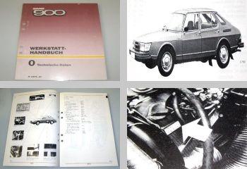 Saab 900 Werkstatthandbuch Technische Daten Modell 1979 -1980