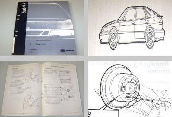 Saab 9-3 Modell 1 Typ YS3D Werkstatthandbuch Service Inspektion 1998 - 1999