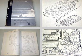 Saab 9-3 Modell 1 Typ YS3D Werkstatthandbuch Elektrik Schaltpläne 1998