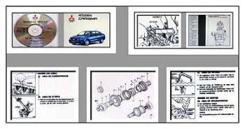 Mitsubishi Carisma MJ 1996 - 2001 DA1 DA2 Werkstatthandbuch CD