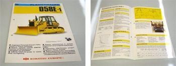 Komatsu D58E-1 Planierraupe Prospekt Technische Daten ca 1988