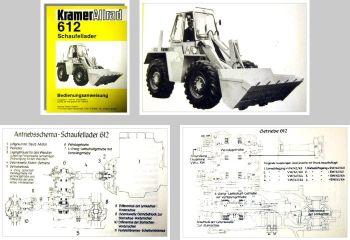 Kramer Allrad 612 Schaufellader Betriebsanleitung