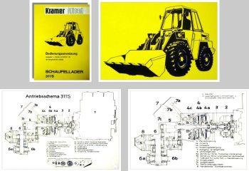 Kramer Allrad 311S Schaufellader Betriebsanleitung