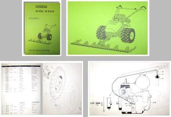 Bucher M300 Motormäher Ersatzteilliste Liste de pieces
