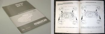 Mazda MX-5 NB1 NB3 Werkstatthandbuch Karosserie 1998 Reparaturanleitung