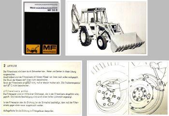 Massey Ferguson MF50B Beriebsanleitung 1979