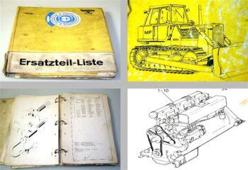 MF D600C / Hanomag K12d Raupe Ersatzteilliste 1978-80