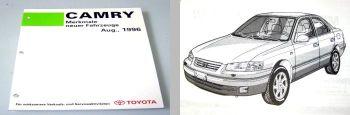 Toyota Camry SXV20 MCV20 Fahrzeugmerkmale Werkstatthandbuch 1996