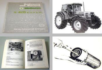 Hürlimann H-4105 Elite Bedienungsanleitung und Wartung 1989 Betriebsanleitung