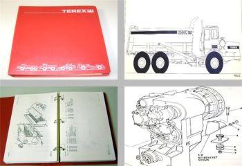 Terex 2566C Coal Truck Ersatzteilliste Parts Book 1996