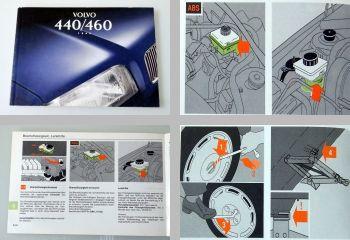 Volvo 440 460 Modelljahr 1995 Betriebsanleitung Wartung Pflege Bedienung