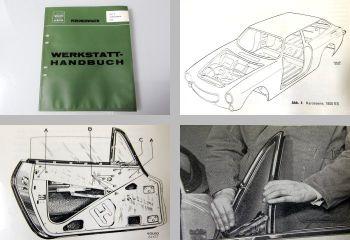 Reparaturanleitung Volvo P 1800 Werkstatthandbuch Karosserie 1973