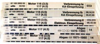 Mercedes Benz R107 Motor 116, 117 Reparatur Fich
