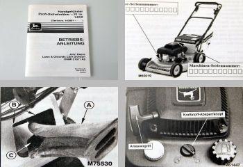 John Deere 14SX Sichelmäher Betriebsanleitung 1994