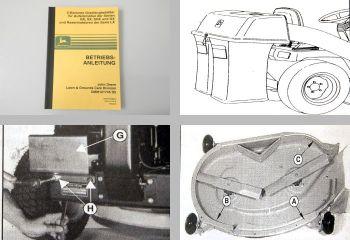 John Deere RX SX SRX GX LX  Betriebsanleitung Aufsitzmäher Grasfangbehälter 1995