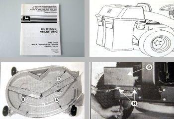 John Deere R S STX 100 200 300 400 GT Betriebsanleitung Grasfangbehälter 1994