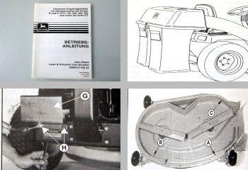 John Deere RX SX SRX GX LX Betriebsanleitung Aufsitzmäher Grasfangbehälter 1994