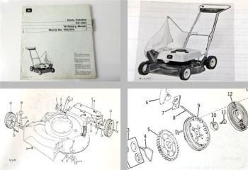 John Deere 19 Rotary Mower Parts Catalog 1972