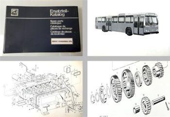 Büssing Präfekt Standardbus VÖV Ersatzteilkatalog 1968
