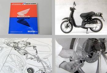 Honda SGX50 AF43 Motorrad Werkstatthandbuch 1997 Reparaturanleitung