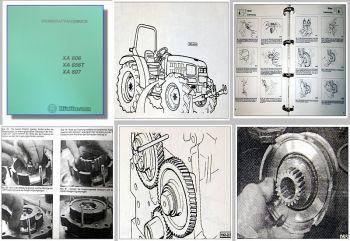 Hürlimann XA 606, 656T, 607 Traktor Werkstatthandbuch