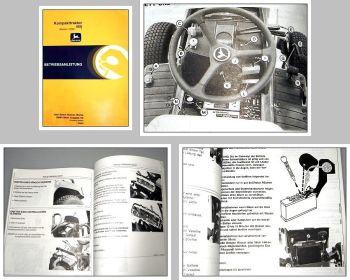John Deere 455 Kompakttraktor Betriebsanleitung