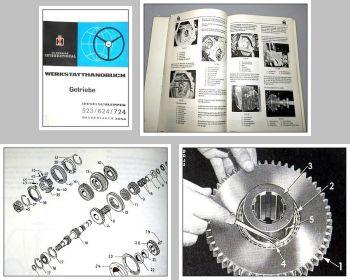 Reparaturanleitung IHC 523 624 724 3654 Werkstatthandbuch Getriebe 1970