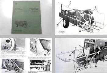 Original John Deere 30 Ballenschleuder Betriebsanleitung Wartung