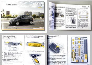 Opel Zafira B Betriebsanleitung + Wartung  08/2008 OPC