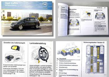 Opel Zafira B Betriebsanleitung + Wartung  08/2010 OPC