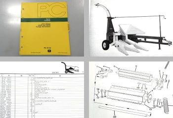 John Deere 3200 3400 Feldhäcksler Ersatzteilliste Forage Harvester Parts Catalog