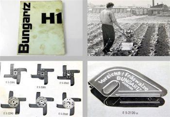 Bungartz H1 Wiesel 4PS Einradhacke Ersatzteilliste 1963