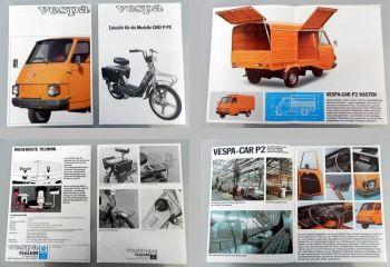 Vespa Car P2 Prospekt + Zubehörblatt Vespa Ciao P/PX