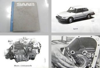 Saab 90 Werkstatthandbuch Reparaturanleitung ab 1985 Ordner mit 12 Heften