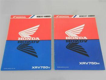 Honda XRV750v XRV750m Africa Twin Werkstatthandbuch Nachtrag 1990 - 1991