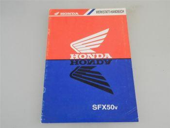 Honda SFX50v Werkstatthandbuch Nachtrag ca. 1995