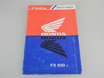 Honda FX650x Werkstatthandbuch Nachtrag 1990er Jahre