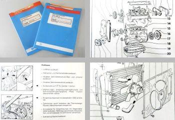 Reparaturleitfaden VW Polo 86c / Polo II Diesel Motor MN 1W Mechanik Zahnriemen