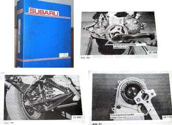 Subaru Serie J Werkstatthandbuch 1984 6 Bücher im Ordne