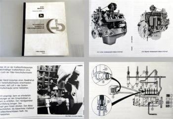 Original John Deere 6101 Motor Werkstatthandbuch 1992 Waterloo Produktion