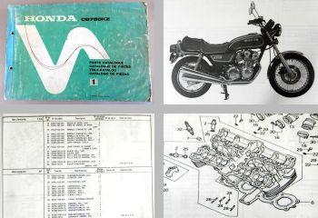 Ersatzteilkatalog Honda CB750KZ Parts List Ersatzteilliste 1978